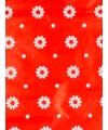 Cadeaupapier rood bloemen 70 x 200 cm