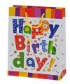 Cadeautasje Happy Birtday 18x23 cm