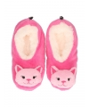 Kinder katten pantoffels roze