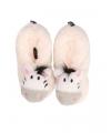Kinder zebra pantoffels wit
