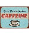 Ouderwetse wandplaat koffie Caffeine 30 x 40 cm