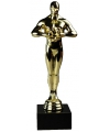 Feestartikel goud award beeldje 22 cm