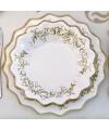 Kerst borden goud 27 cm