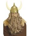 Vikingen pruik met baard en snor