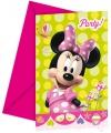 Uitnodigingen voor kinderverjaardag Minnie Mouse