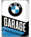 Retro muurplaatje BMW 30 x 40 cm