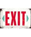 Retro muurplaatje exit  20 x 30 cm