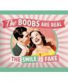 Retro muurplaatje The Smile is Fake 15 x 20 cm