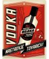 Retro muurplaatje Vodka 30 x 40 cm