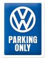 Retro muurplaatje Volkswagen parking 15 x 20 cm