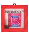 Ruit inslaan voor noodgeval condoom