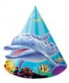 Kartonnen oceaan feesthoedjes 8 stuks