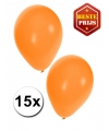 15 Party ballonnen oranje gekleurd