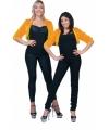 Pluche oranje jasje voor dames