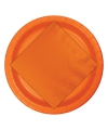 Feest borden oranje 8 stuks