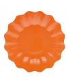 Oranje diepe barbecue borden 21 cm