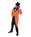 Showkleding oranje slipjas voor heren