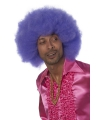 Grote paarse afro pruiken