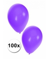 Paarse feest ballonnen, 100 st