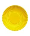 Gele barbecue borden 23 cm