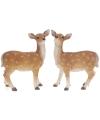 Polystone beeldje van een hert 28 x 11 x 35 cm