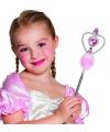Prinsessen stafje met roze diamanten