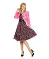 Pluche roze jasje voor dames