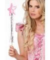 Glimmend roze fee staf