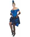 Blauwe carnaval salsa jurk