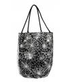 Spinnenweb tas met zilveren opdruk