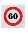 Papieren stopbord servetten 60 jaar