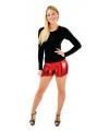 Sexy shorts metallic rood