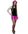 Sexy shorts metallic roze