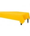 Plastic tafelkleed geel 140 x 240 cm