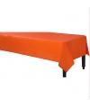 Plastic tafelkleed oranje 140 x 240 cm