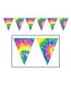 Jaren 60 Tie Dyed vlaggenlijn 3 meter