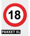 18 jaar verkeersbord versiering XL pakket