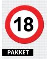 18 jaar verkeersbord versiering pakket
