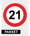 21 jaar verkeersbord versiering pakket