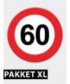 60 jaar verkeersbord versiering XL pakket
