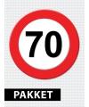 70 jaar verkeersbord versiering pakket