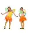 Vlinder jurkje voor meiden geel/oranje