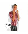 Voordeelset van 10x wegwerp regenponcho