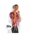 Voordeelset van 50x wegwerp regenponcho