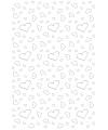 Witte loper met zilveren hartjes 4,5 x 60 cm