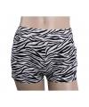 Katoenen zebra hotpants hoge taille